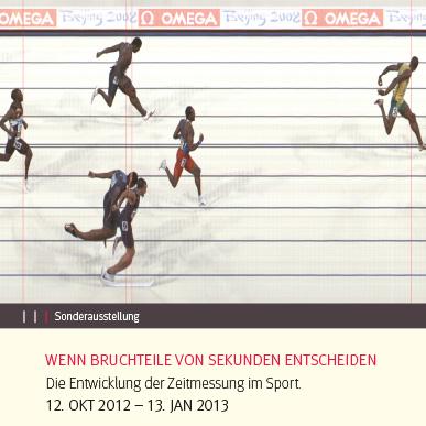 2012_Ausstellung_Wenn Bruchteile von Sekunden entscheiden_Die Entwicklung der Zeitmessung im Sport