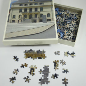 Puzzle 500 Teile Motiv Außenansicht des Deutschen Uhrenmuseums Glashütte
